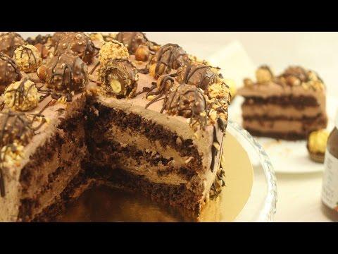 Nutella Torte | Festliche Nuss-Nougat-Torte