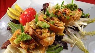 Shrimp and Artichoke Bruschetta