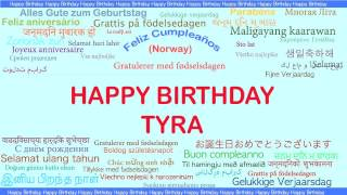 Tyra   Languages Idiomas - Happy Birthday