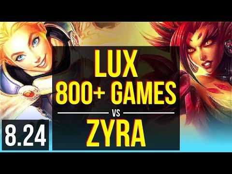 LUX & Ashe vs ZYRA & Kai'Sa (SUPPORT) (DEFEAT)   800+ games, KDA 24/5/15   NA Grandmaster   v8.24