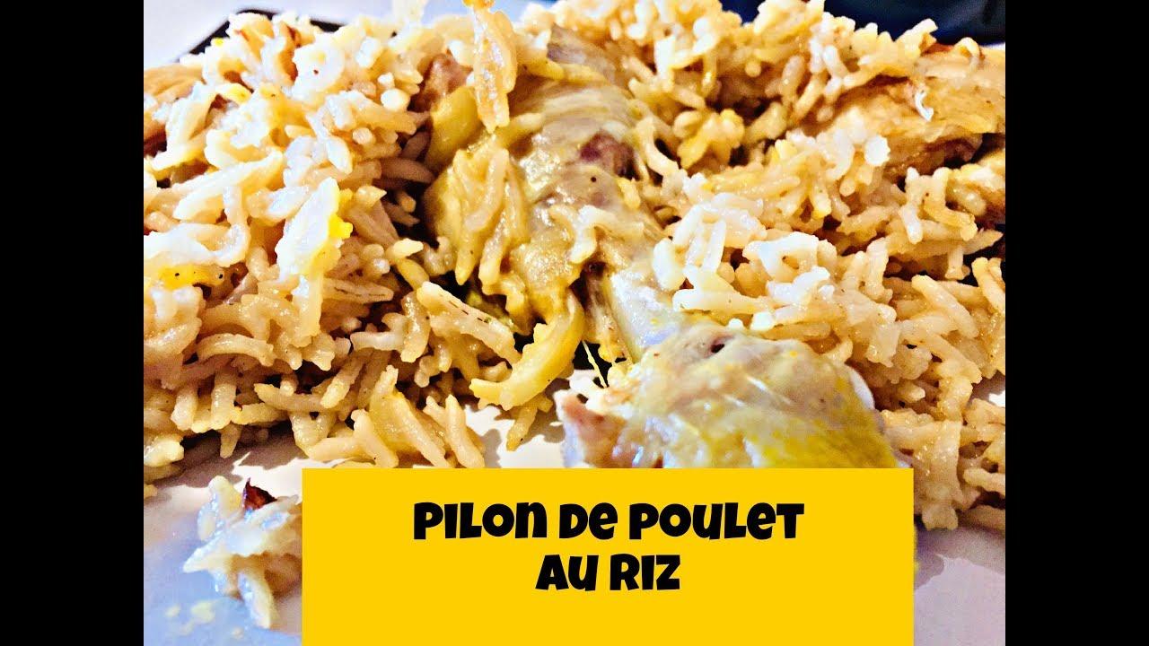 pilons de poulet au riz et lait de coco au cookeo et weight watchers