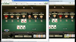 bullfrog miniclip poker cheating hack - two accounts at the same table controlled by me