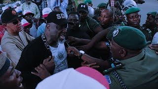 Dino Melaye, Saraki, Others Clash With Police during Abuja protest