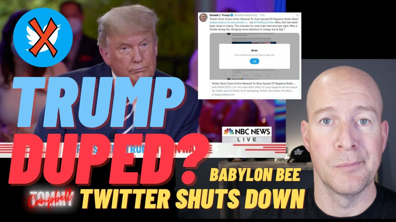 Babylon Bee - Trump Duped Twitter Shuts ...