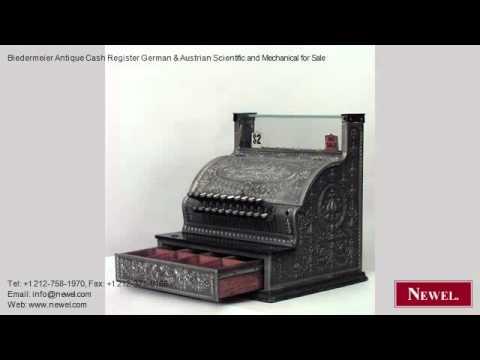Biedermeier Antique Cash Register German & Austrian Scientif