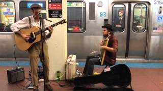 Earphoria on the subway in Chicago - Bubbles Brown and Washboard Ben