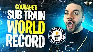 COURAGE'S SUB TRAIN WORLD RECORD?! I KEPT WINNING! (Fortnite: Battle Royale)
