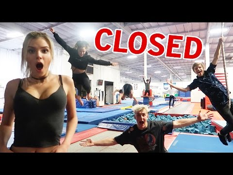 Thumbnail: OVERNIGHT SUPER TRAMPOLINE PARK OBSTACLE COURSE CHALLENGE AND TRICKS