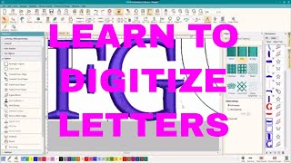 HATCH EMBROIDERY FREE TUTORIAL: Learn to digitize fonts and letters!!