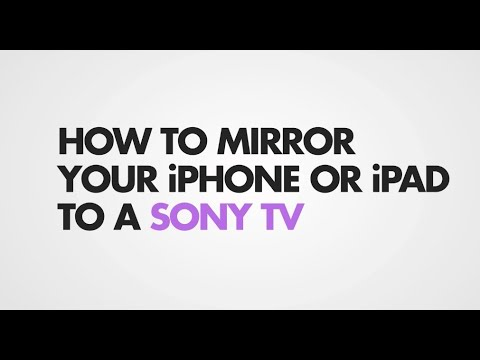 How To Screen Mirror Iphone Sony, How To Screen Mirror Sony Tv With Ipad