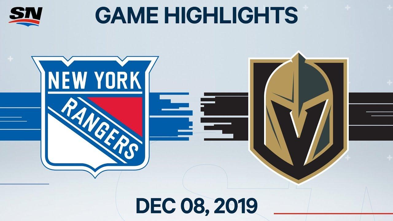 NHL Highlights | Rangers vs. Golden Knights – Dec. 08, 2019