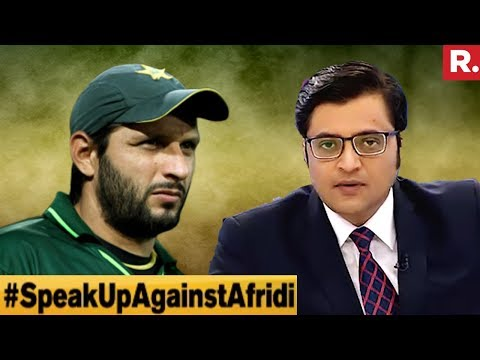 Shahid Afridi Face Of Pak Army?  The Debate With Arnab Goswami
