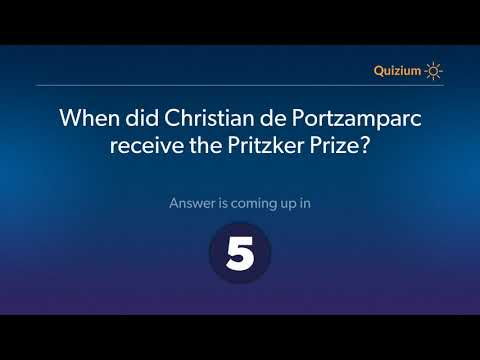 When did Christian de Portzamparc receive the Pritzker Prize?   Christian de Portzamparc Quiz
