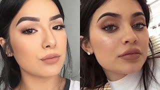 Kylie Jenner Inspired Makeup W/ DRUGSTORE Products! | Faye Claire