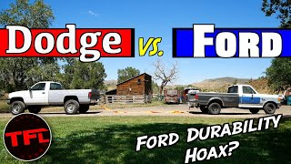 Ram vs Ford TugofWar: Is The Old Ford Inline 6Cylinder Actually Indestructible?