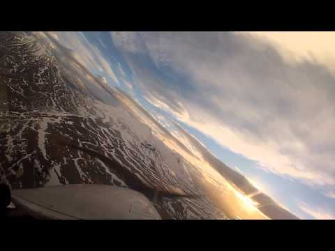 Flying in Iceland