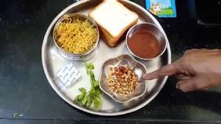 Cheesy Maggi Noodles Bread Sandwich | Bread Pockets Recipe Kids Snack |  By Suguna's Kitchen