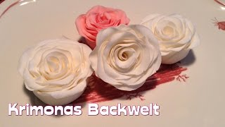 Fondant Rose mit der Wickeltechnik herstellen / How to make fondant roses (wind - technique)