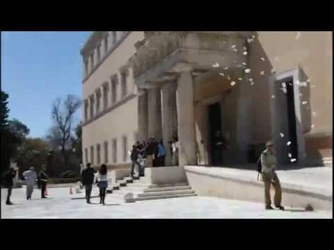 Greece: Anarchists invade the greek parliament (Ρουβίκωνας)