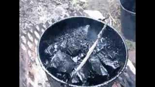 приготовление горячей битумной мастики(, 2013-12-08T05:37:04.000Z)