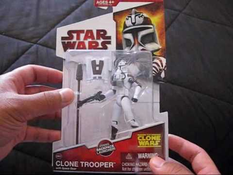 Star Wars The Clone Wars Clone Trooper with Space Gear Action Figure