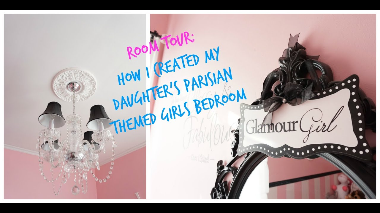 room tour: how i created my daughter's parisian themed girls