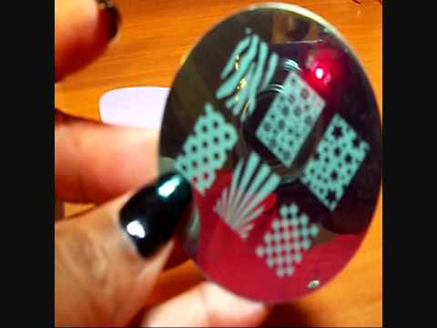 Salon Express Nail Art Stamping Kit - 1st Attempt - YouTube