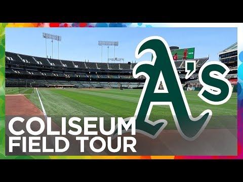 Oakland Coliseum Field Tour
