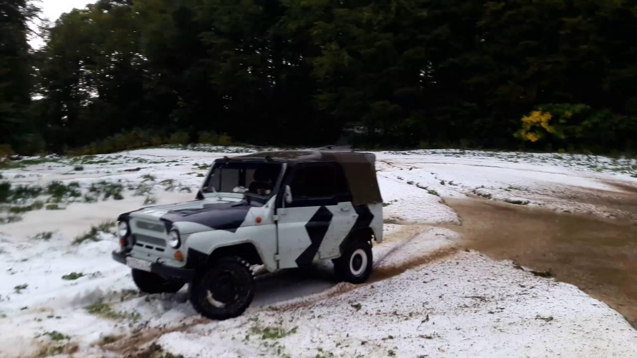 Уаз по снегу. Змз 406.