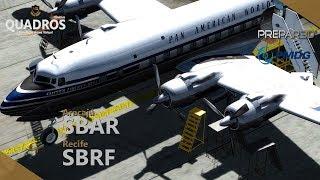 [💻 P3d 4.3] 📍 SBAR - SBRF (in memorian ✞) | 👮 PAN9032 | ✈️ DC6 - PMDG | 🌏 IVAO