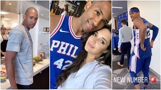 Al Horford tries out the food at the 76ers facilities, Tobias Harris is excited to change his number