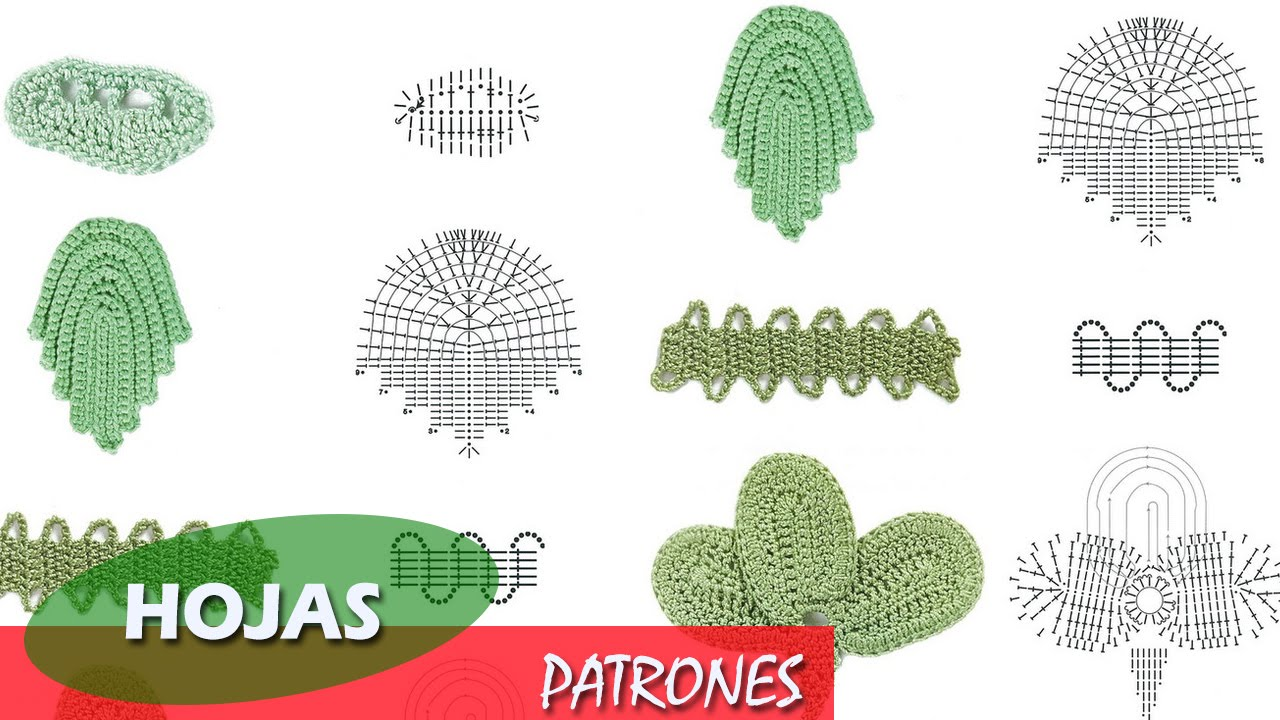 Patrones de Hojas - Tejido a crochet - YouTube