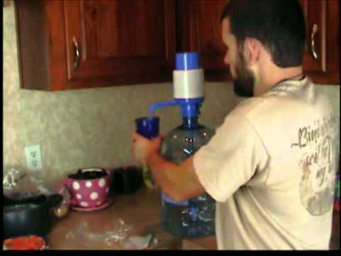 HAND PUMP FOR 5 GALLON BOTTLED WATER CONTAINERS, HOW TO ASSEMBLE IT AND ITS USES