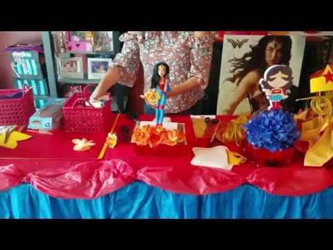 Centro de mesa wonder woman mujer maravilla youtube for Decoracion wonder woman