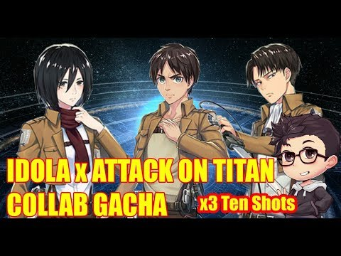 IDOLA Phantasy Star Saga X Attack On Titan Collab Gacha - Eren Rate Up