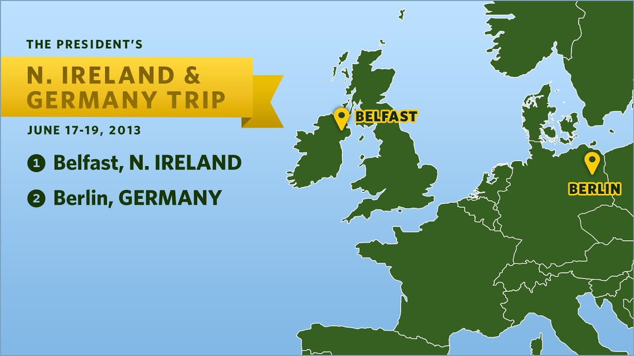 Youtube Map Of Ireland.Previewing The President S Trip To Northern Ireland Germany