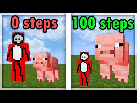 Download Minecraft, But Every Step Makes You Smaller...