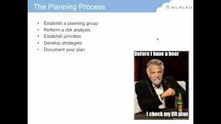 2012.07.26 : Disaster Recovery Planning