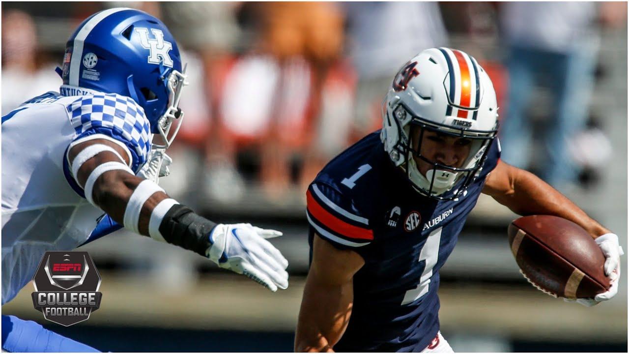 Kentucky Wildcats Vs Auburn Tigers College Football Highlights YouTube