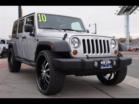 2010 Jeep Wrangler Sport Unlimited 4x4 26 Inch Wheels