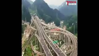 Çin'de bir kavşak çalışması