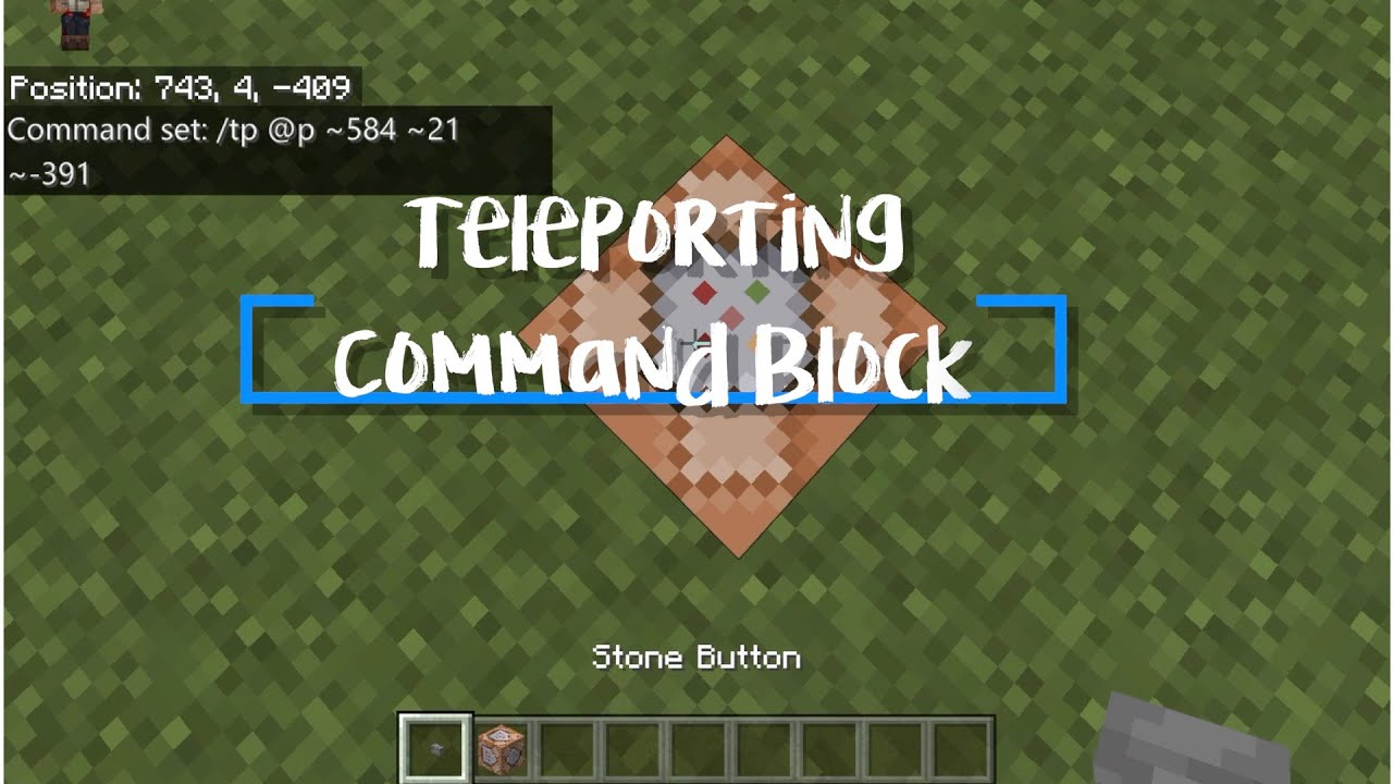 Teleport with a Command Block in Minecraft Education Edition YouTube