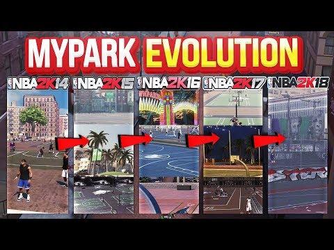 HOW MYPARK HAS CHANGED! NBA 2K14 - 2K18 ( MYPARK EVOLUTION )