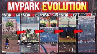 HOW MYPARK HAS CHANGED! NBA 2K14 - 2K18 ( MYPARK EVOLUTION )