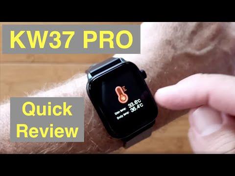 kingwear-kw37-pro-temperature-blood-pressure-ip68-waterproof-health-smartwatch:-quick-overview