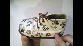 ДЕКУПАЖНЫЕ ПОЛЕЗНОСТИ-  2 .  Декупаж на коже. Обувь.