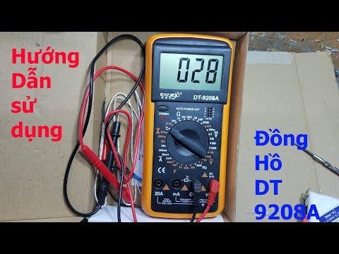 Hướng Dẫn Sử Dụng đồng Hồ Số đo điện đa Năng DT-9208A