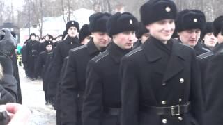 Кронштадт  Присяга 14 02 2015  Марш повзводно ч 1