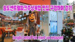 송도센트럴파크 주상복합 맛집, 카페 구경하며 걷기/So…