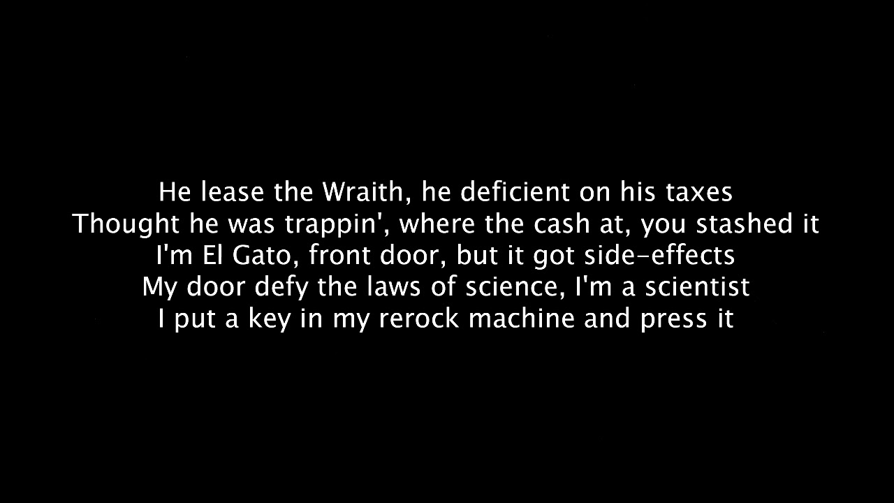 Side Effects - [Gucci Mane] - [Official Lyrics] - YouTube